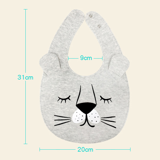 Double Layers Cotton Baby Bibs