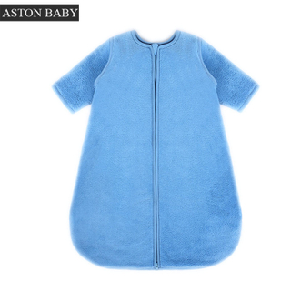 2.5 tog long sleeve coral fleece baby sleeping bag