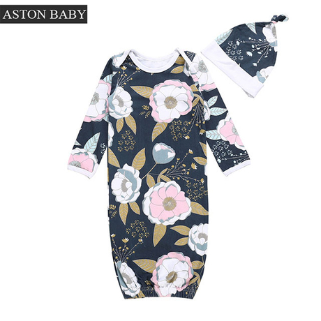 Combed Cotton Summer Infant Baby Sleep Gown Sleepdress